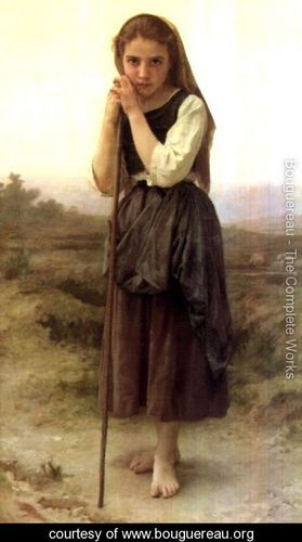 The Little Sheperdess, by William-Adolphe Bouguereau