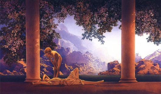 """Daybreak"" by Maxfield Parrish"